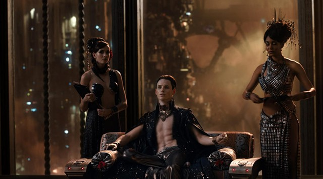 MASTER OF THE UNIVERSE: Redmayne is memorably silly in the Wachowskis' space epic.