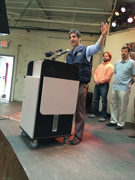 Mayor Miro Weinberger at ArtsRiot. - ALICIA FREESE