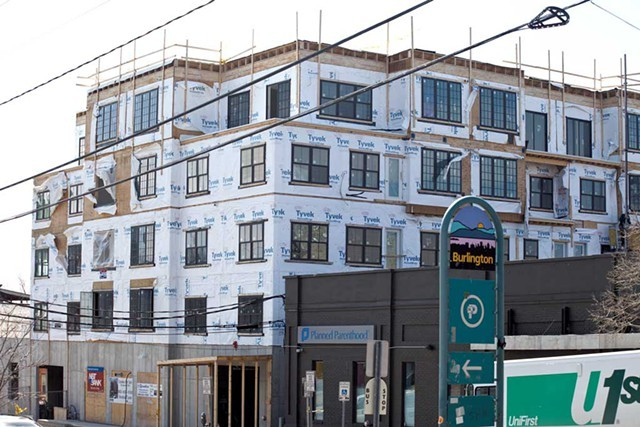 A condo project under construction on St. Paul Street last year - FILE: MATTHEW THORSEN
