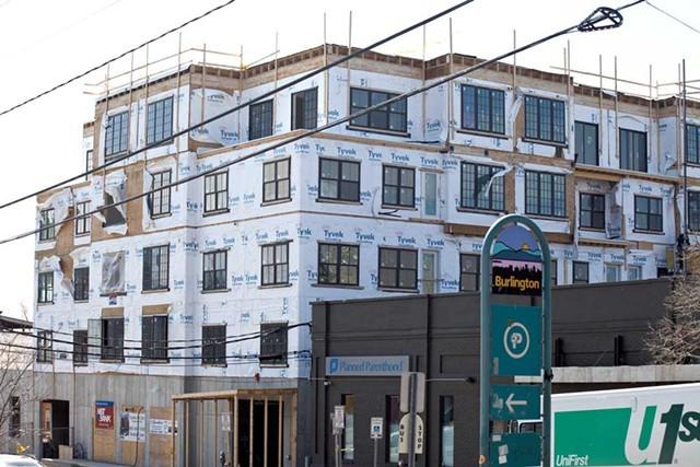 A condo project under construction on St. Paul Street last year - FILE: MATTHEW THORSEN