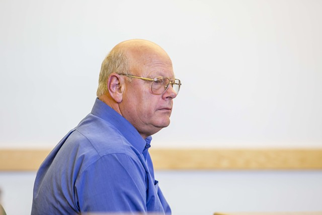 Sen. Norm McAllister pleads not guilty Friday in Franklin Superior Court. - FILE: GREGORY J. LAMOUREUX, COUNTY COURIER