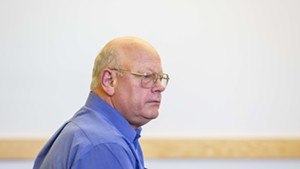 Sen. Norm McAllister pleads not guilty Friday in Franklin Superior Court.