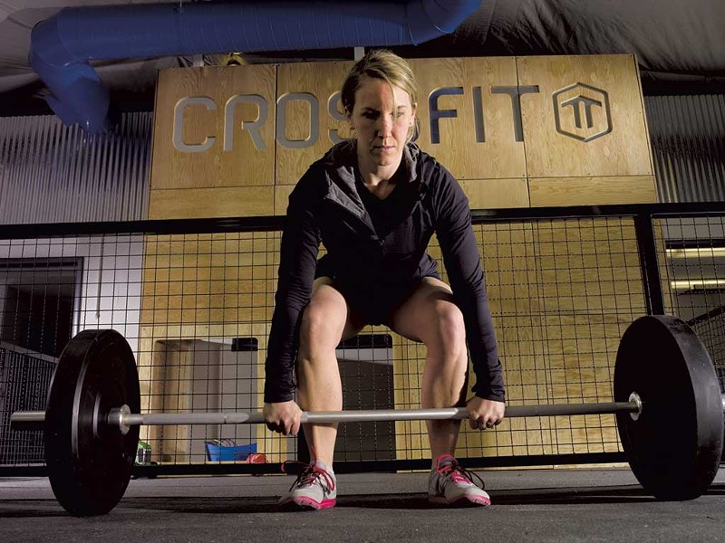 Meghan Barnes at Crossfit Threshold Training, South Burlington - COURTESY OF ANDREW WELLMAN
