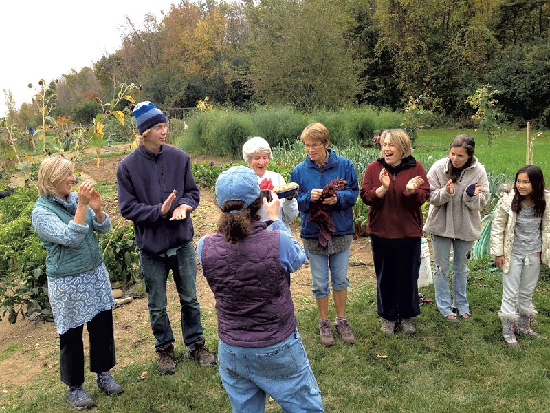 Members of the Ten Stones Community Garden - KEN FRENCH