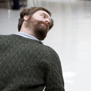 MENTAL MENTOR Galifianakis plays a fellow patient who offers Gilchrist unorthodox therapy.