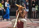WTF: What's up with the mask-wearing Church Street didgeridoo player?