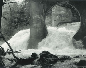 "COURTESY OF SHELDON MUSEUM - ""Middlebury Falls Flume"" by Leight Johnson"