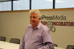 Mike Townsend in October at the Burlington Free Press' gubernatorial debate. - PAUL HEINTZ