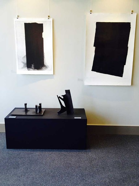 Monoprints and sculpture by Lynn Newcomb - COURTESY OF PAMELA POLSTON