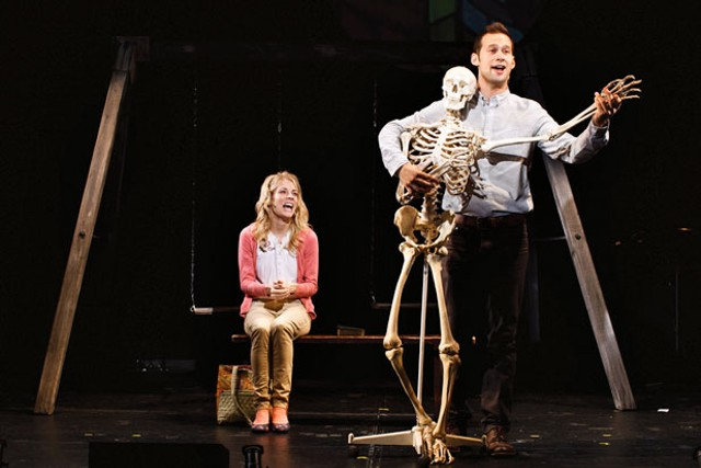"""Morgan Weed and Jed Resnick in """"Swing State"""""""