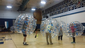 Mount Mansfield Union students get bubbly.