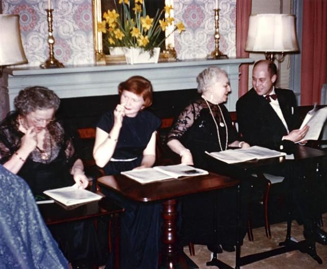 Mrs. Howe, Georgie Brown, Fanny Shaw and John Swan, 1953