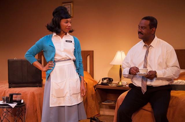 Myxolydia Tyler as Camae and Jolie Garrett as Dr. Martin Luther King Jr. - COURTESY OF LINDSAY RAYMOND JACK