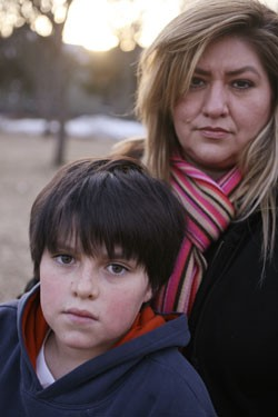 Natalie Garza with son Damon - JORDAN SILVERMAN