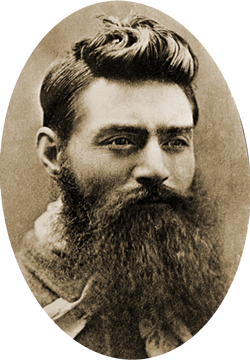 Ned Kelly, the day before his execution in 1880 - AUSTRALIAN NEWS AND INFORMATION BUREAU, CANBERRA - NATIONAL ARCHIVES OF AUSTRALIA | WIKIPEDIA