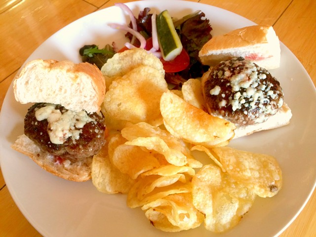 Neill Farm burger sliders, $10 - ALICE LEVITT