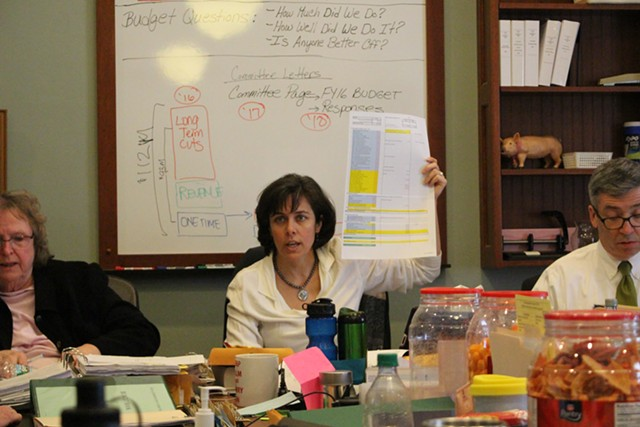 Rep. Mitzi Johnson presents her appropriation plan to committee members Friday afternoon. - PAUL HEINTZ