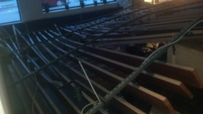 This ceiling collapsed at the Hotel Vermont. - MATTHEW ROY
