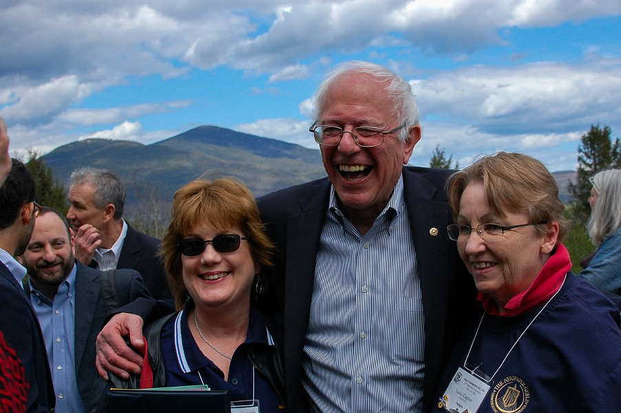 Sen. Bernie Sanders campaigns in New Hampshire earlier this month. - FILE: MORIAH HOUNSELL