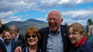 Sen. Bernie Sanders campaigns in New Hampshire earlier this month.