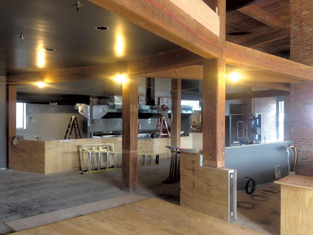 New Waterworks interior in porgress - COURTESY OF WATERWORKS FOOD & DRINK