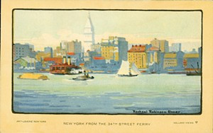 "COURTESY OF ROKEBY MUSEUM - ""New York From 34th Street Ferry"" by Rachael Robinson Elmer"