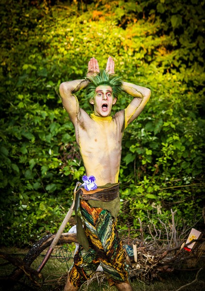 Nick Piacente as Puck - COURTESY OF JAN NAGLE, VERMONT SHAKESPEARE COMPANY