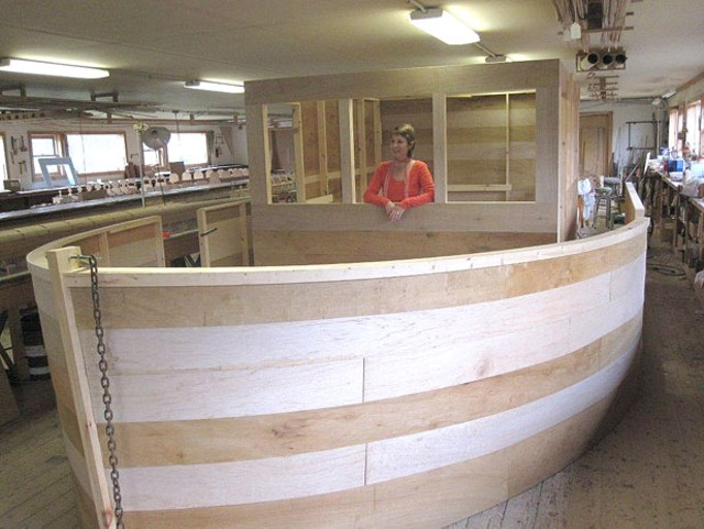"""""""Noah's Ark"""" in progress at King BoatWorks"""