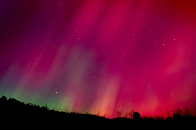 """Northern Lights, Braintree, Vt."" by Jack Rowell"