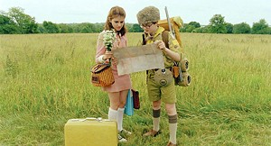 NOSTALGIA TRIP Hayward and Gilman play sort-of-star-crossed preteen lovers in the latest from Wes Anderson.
