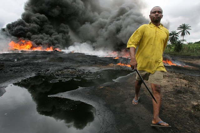 """Oil Spill Near Farm Land Ogoni"" by George Osodi"