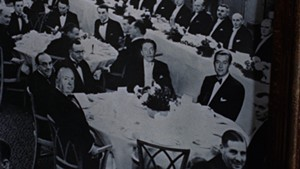 One of Hitchcock's cleverer cameos occurs in Dial M for Murder.