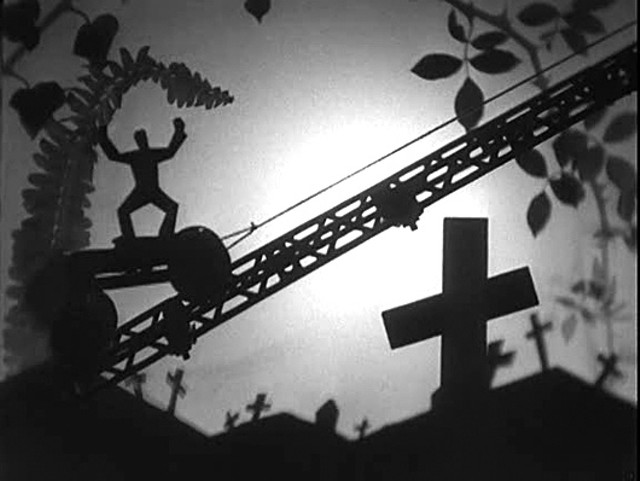 "One of the incredible silhouette shots from ""The Life and Death of 9413: A Hollywood Extra"" - LIBRARY OF CONGRESS"