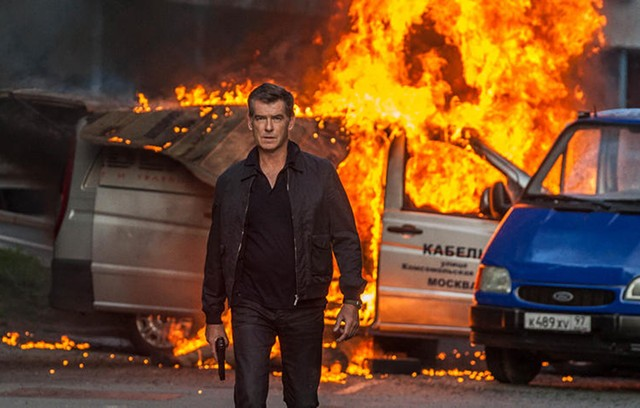 OP in flames: If Brosnan intended to breathe new life into his career the way Liam Neeson did in Taken, that's one mission the 007 vet didn't accomplish.