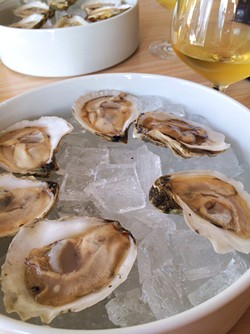 Oysters at Vergennes Laundry - CORIN HIRSCH