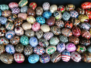 COURTESY OF FROG HOLLOW - Painted eggs by Theresa Somerset