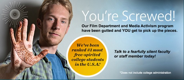 Parody Burlington College ad produced by students