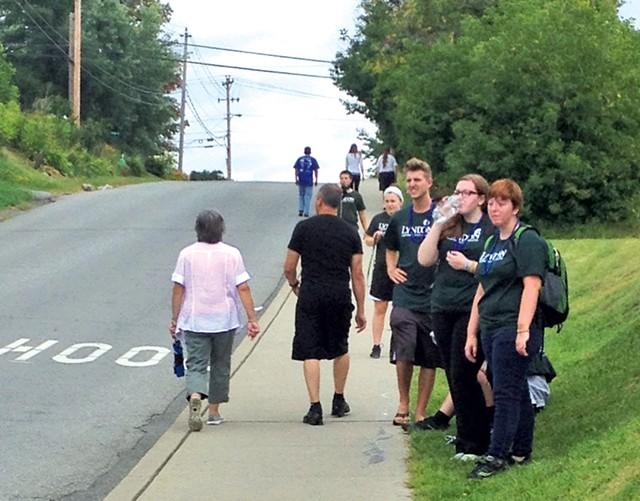 Participants along the route - KRISTEN FOUNTAIN