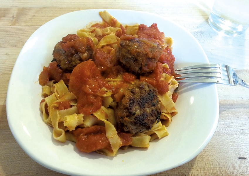 Pasta with meatball - COURTESY OF PHILAMENA'S