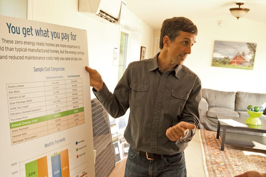 Peter Schneider gives a guided tour  inside the Vermod home - MATTHEW THORSEN