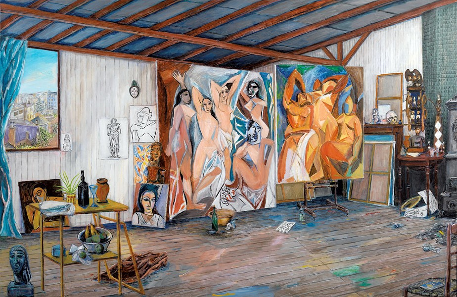 """Picasso's Studio at the Bateau Lavoir"" by Damian Elwes"