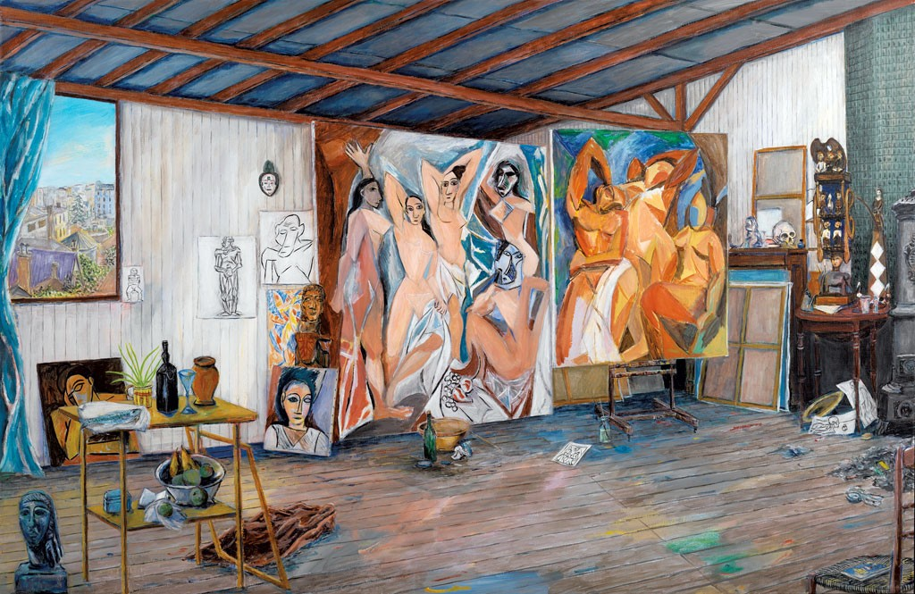 """""""Picasso's Studio at the Bateau Lavoir"""" by Damian Elwes"""