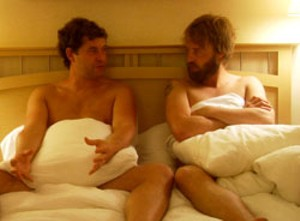 PILLOW TALK Duplass and Leonard play old pals who decide to become friends with benefits.