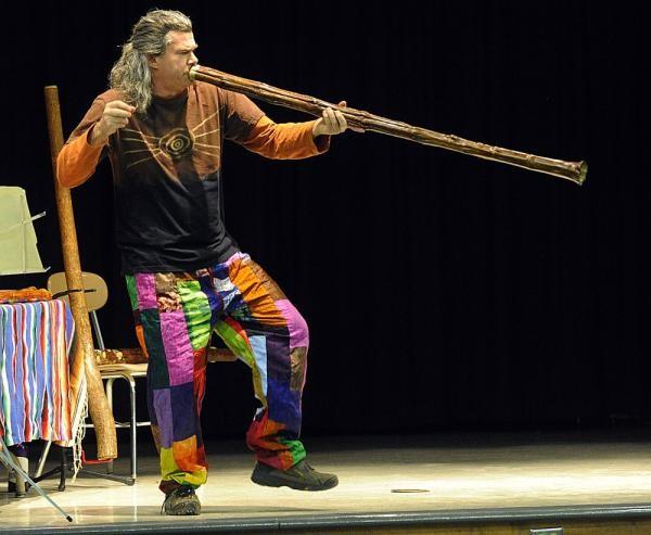 Pitz on the didgeridoo - COURTESY OF PITZ QUATTRONE