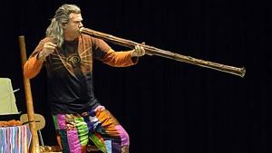 Pitz on the didgeridoo