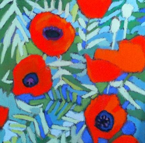 "COURTESY OF EDGEWATER GALLERY - ""Poppies"" by Susanne Strater"