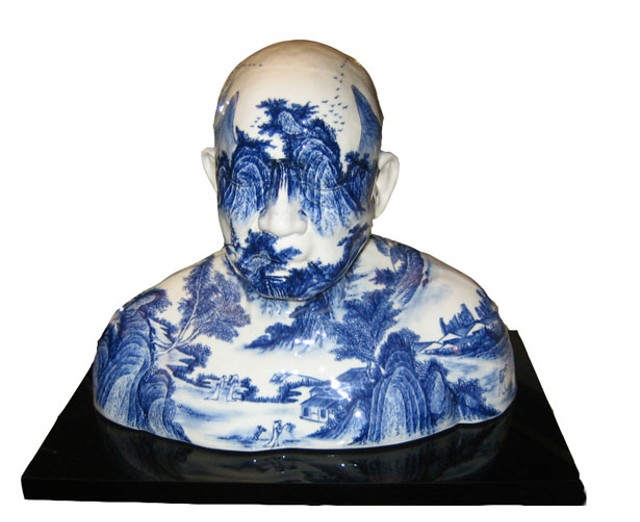 Porcelain bust by Ah Xian
