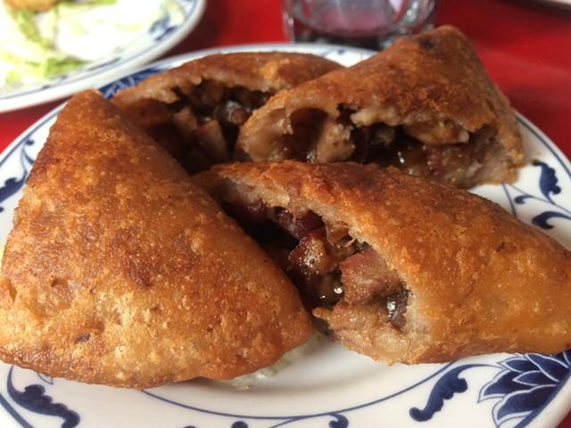 Pork and taro dumplings - ALICE LEVITT