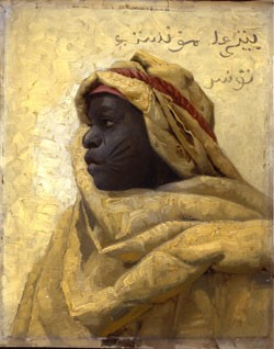 """Portrait of a Nubian,"" by Peder Monsted"