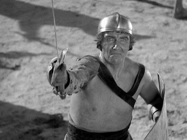 Preston Foster in gladiatorial gear as Marcus in The Last Days of Pompeii (1935) - WARNER BROS. PICTURES